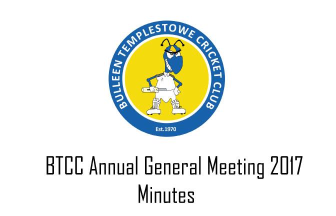 BTCC AGM 2017 Minutes